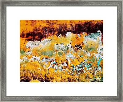 Framed Print featuring the digital art Wall Abstract 28 by Maria Huntley