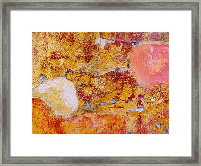 Framed Print featuring the digital art Wall Abstract 3 by Maria Huntley