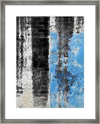 Framed Print featuring the digital art Wall Abstract 34 by Maria Huntley