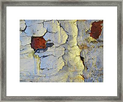 Wall Abstract 4 Framed Print by Mary Bedy