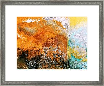 Framed Print featuring the digital art Wall Abstract 40 by Maria Huntley