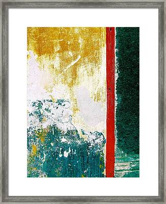 Framed Print featuring the digital art Wall Abstract 71 by Maria Huntley