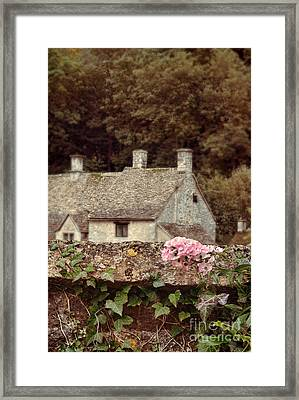 Wall And Cottages Framed Print by Jill Battaglia