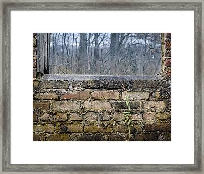 Wall And Window Framed Print