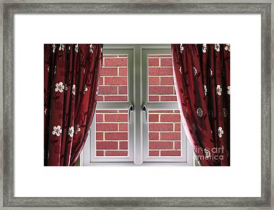 Wall Build Close To A Closed Window Framed Print by Simon Bratt Photography LRPS