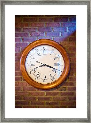 Wall Clock 1 Framed Print by Douglas Barnett