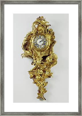 Wall Clock Pendule Clock Movement By Jean-jacques Fiéffé Framed Print by Litz Collection