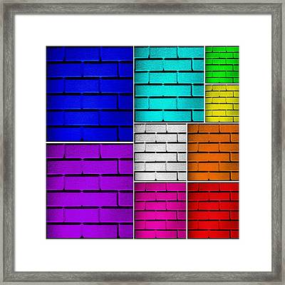 Wall Color Wall Framed Print
