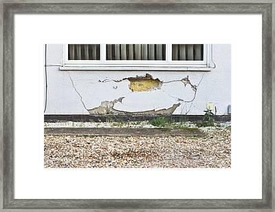 Wall Damage Framed Print by Tom Gowanlock