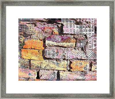 Wall In City Framed Print