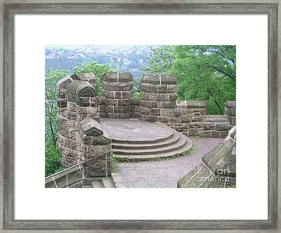 Wall In Landscape  Framed Print