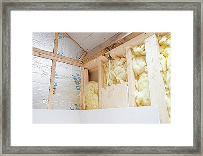 Wall Insulation Framed Print