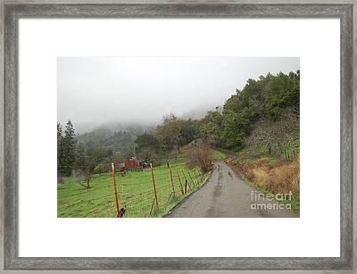 Wall Lane Mist Framed Print by Jordan Rusin
