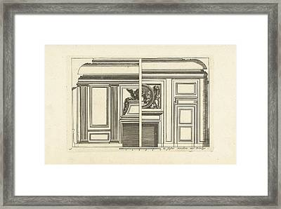 Wall Layout, Interior, Decoration, Design Framed Print by Jean Lepautre And Justus Danckerts