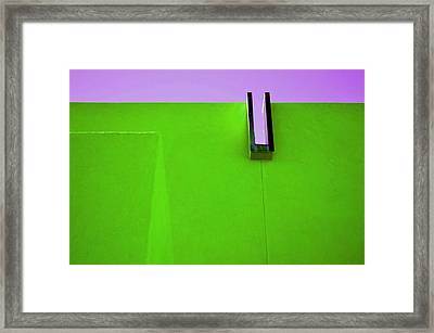 Wall Of A Different Color Framed Print