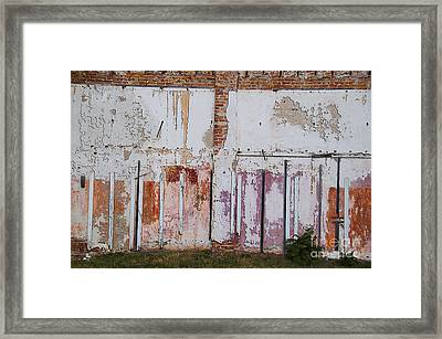 Wall Of Colors Framed Print