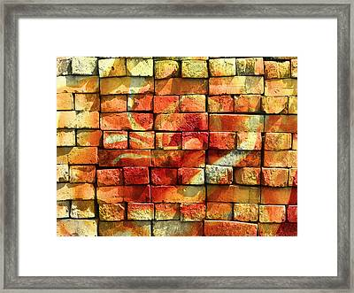 Wall Of Graffiti Abstract Framed Print by Georgiana Romanovna