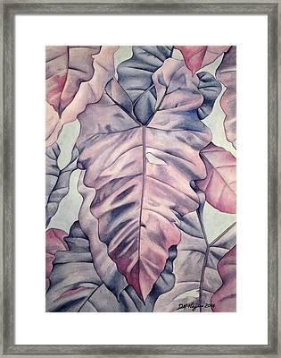 Wall Of Leaves Framed Print by DK Nagano