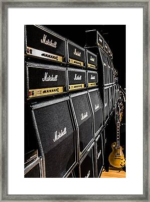 Wall Of Marshalls V Framed Print