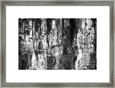 Framed Print featuring the photograph Wall Of Rock by Miroslava Jurcik