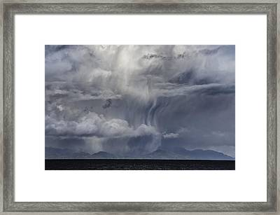 Wall Of Weather Framed Print by Darryl Luscombe