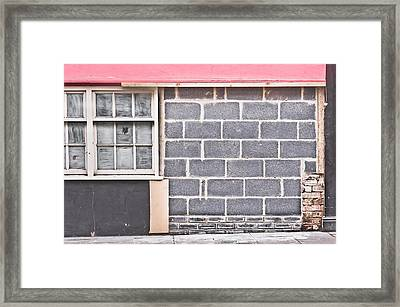 Wall Repair Framed Print
