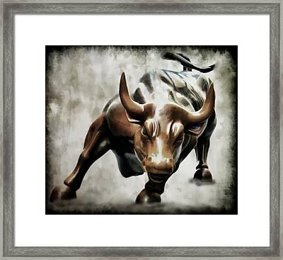 Wall Street Bull II Framed Print