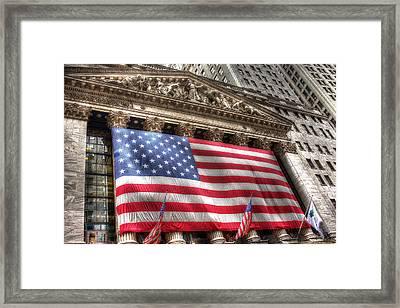 Wall Street Glory Framed Print by William Fields