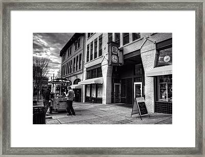 Wall Street Hot Dogs In Asheville Nc Framed Print