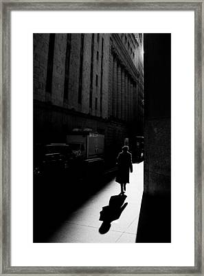 Wall Street In New York City Framed Print