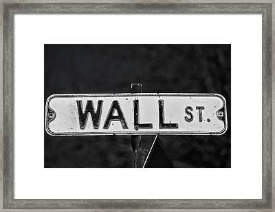 Wall Street Framed Print by Karol Livote