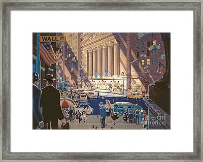 Wall Street Framed Print by Michael Young