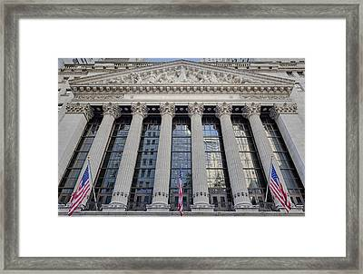 Wall Street New York Stock Exchange Nyse  Framed Print