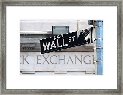 Wall Street New York Stock Exchange Framed Print