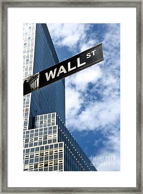 Wall Street Street Sign New York City Framed Print by Amy Cicconi