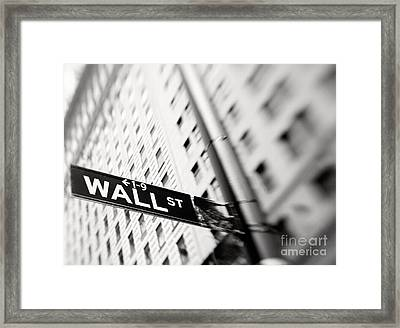 Wall Street Street Sign Framed Print
