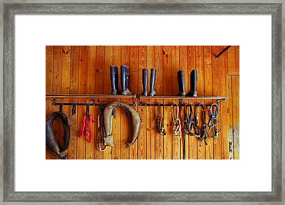 Framed Print featuring the photograph Wall Tack And Boots by Andy Lawless