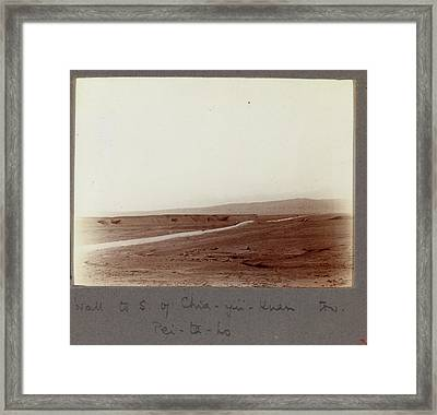 Wall To S. Of Chia-yu-kuan Tow Framed Print by British Library