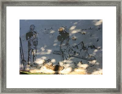 Wall Workers Framed Print by Jan Katuin