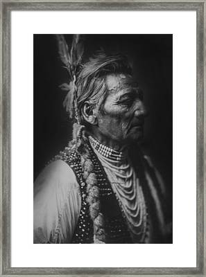 Walla Walla Indian Circa 1905 Framed Print by Aged Pixel