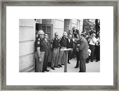 Wallace Blocks Integration Framed Print