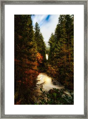 Wallace Fall North Fork Framed Print