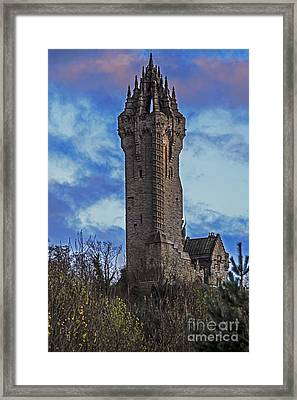 Wallace Monument During Sunset Framed Print