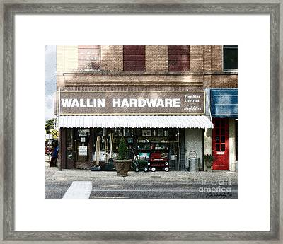 Wallin Hardware Framed Print