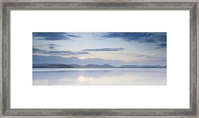 Wallis Lake Sunset Framed Print by Steve Caldwell
