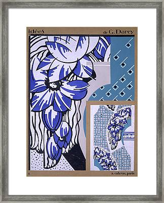 Wallpaper Design, From Idees, Published Framed Print