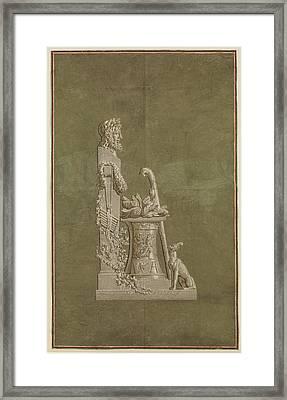 Wallpaper Panel Depicting Winter Framed Print