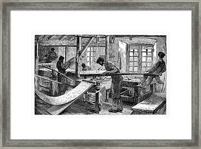Wallpaper Printing Framed Print by Science Photo Library