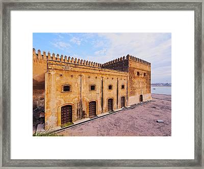 Walls Of Kasbah Of The Udayas In Rabat Framed Print