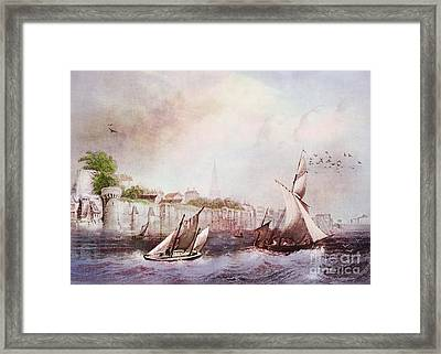 Walls Of Southampton Framed Print
